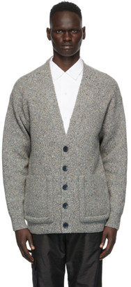 Tibi Grey Oversized Easy Cardigan