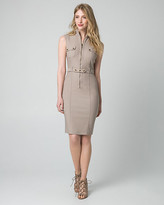 Le Château Tech Stretch Mock Neck Shirtdress