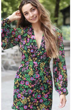 Margaux Long Sleeve Mini Dress