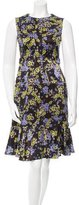 Erdem Floral Print Silk Dress