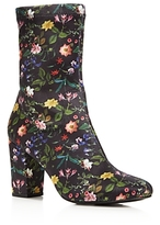 Kenneth Cole Women's Alyssa Stretch Floral Print Sock Booties