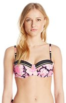 Ted Baker Women's Marjah Tribal Floral Mash-Up Padded Cup Bikini Top