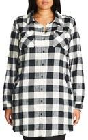 City Chic Plus Size Women's Plaid Boyfriend Shirt