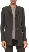 Akris Asymmetrical Zip Double Face Wool Crepe Jacket