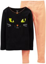 Carter's 2 Piece Graphic PJ Set (Baby) - Cat-24 Months