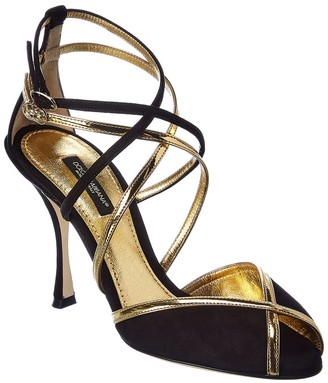 Dolce & Gabbana Keira Suede & Leather Sandal