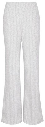 Dorothy Perkins Womens Grey Ribbed Wide Leg Trousers, Grey