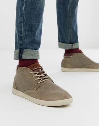 Boxfresh alvendon trainer in grey suede