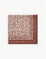 Drakes Abstract floral cotton-blend pocket square