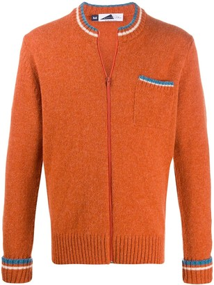 Anglozine zipped fitted cardigan