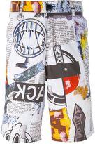 Kokon To Zai multi print shorts - men - Cotton - XL