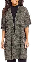Eileen Fisher Plus Kimono Elbow Sleeve Cardigan