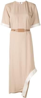 Victoria Beckham T-shirt belted dress with appliqué