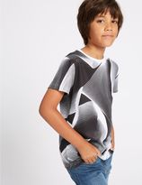 Marks and Spencer Printed Short Sleeve Top (3-14 years)