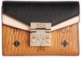 MCM Leather Patricia Visetos Flap Wallet