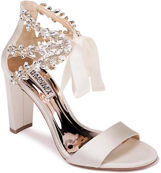 Badgley Mischka Everafter Ribbon-Tie Sandals