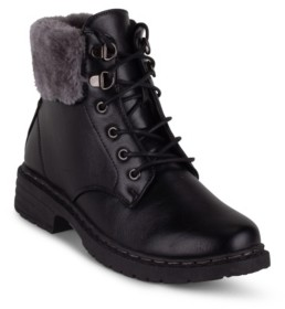 Wanted Women's Winter Fuzzy Lace Up Hiker Booties Women's Shoes