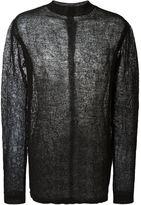 Rick Owens mesh jumper - men - Linen/Flax/Polyester - One Size