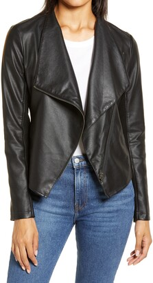 Halogen Faux Leather Moto Jacket