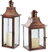 Cambridge Silversmiths Traditions 24-Inch Lantern Candle Holder in Antique Copper