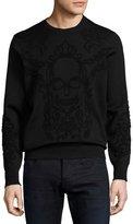 Alexander McQueen Tonal Skull Sweatshirt, Black