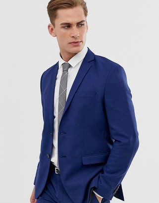 Jack and Jones slim fit stretch suit jacket in blue