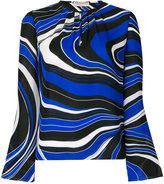 Emilio Pucci wave print blouse