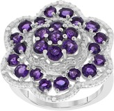 1.75 cttw African Amethyst & White Topaz Ring, Sterling