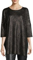 Caroline Rose Golden Plaited Tunic, Plus Size
