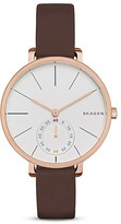 Skagen Hagen Leather Watch, 34mm