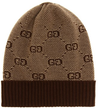 Gucci Kids Baby GG wool and cotton beanie