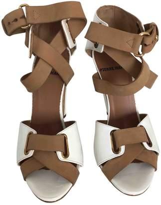 Pierre Hardy Ecru Patent leather Sandals
