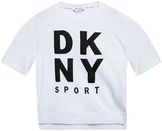 DKNY Printed Cotton-blend Jersey Sweatshirt