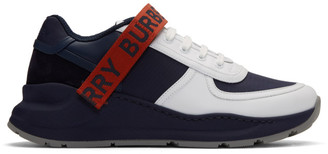 Burberry Navy and Red Ronnie M Sneakers