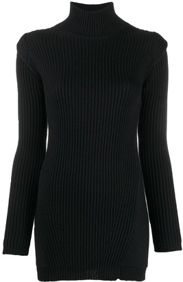 Dondup Ribbed-Knit Roll-Neck Dress