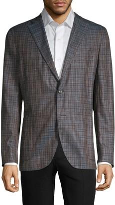 Boglioli Standard-Fit Check Bamboo Jacket
