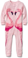 Flamingo zip sleep one-piece