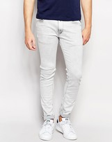 Replay Jeans Jondrill Skinny Fit Powerstretch Bleached Grey