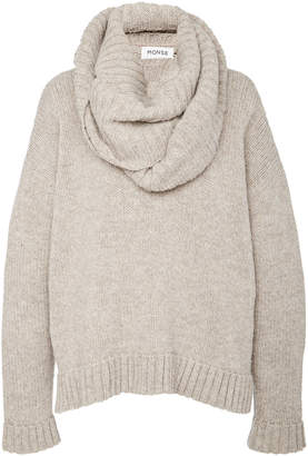 Monse Shawl Collar Merino Wool Sweater