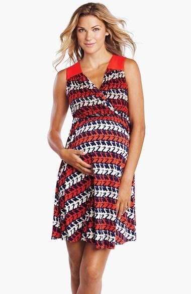 Maternal America Back Cutout Maternity Dress