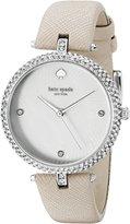 Kate Spade Women's KSW1012 Eldridge Analog Display Analog Quartz Grey Watch