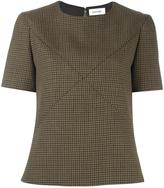 Courreges houndstooth top