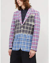 COMME DES GARCONS HOMME PLUS Checked regular-fit cotton blazer