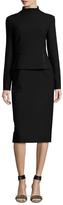 Kimora Lee Simmons Mockneck Peplum Dress