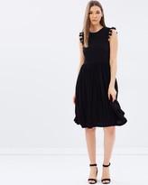 Whistles Crochet Lace Insert Jersey Dress