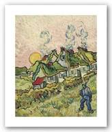 "McGaw Graphics House and Figure, 1890 by Vincent Van Gogh 20""x16"" Art Print Poster"