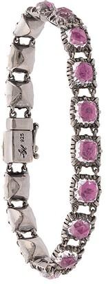 Larkspur & Hawk small Bella Paume Magenta bracelet