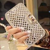 iPhone 7 Plus Wallet Case,Inspirationc and Made Luxury 3D Bling Crystal Rhinestone Leather Purse Flip Card Pouch Stand Cover Case for iPhone 7 Plus 5.5 Inch--Silver