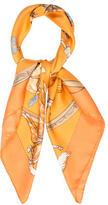 Hermes En Piste Silk Scarf