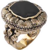 Barse Bronze & Onyx Ornate Ring RING82XBZ (Women's)